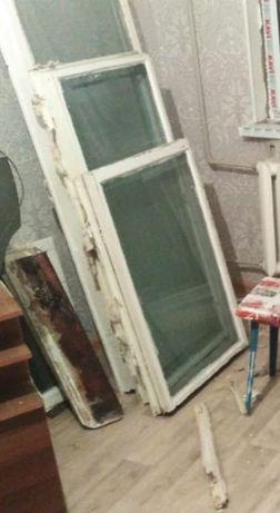 Бесплатно отдам окно и рамки деревянные