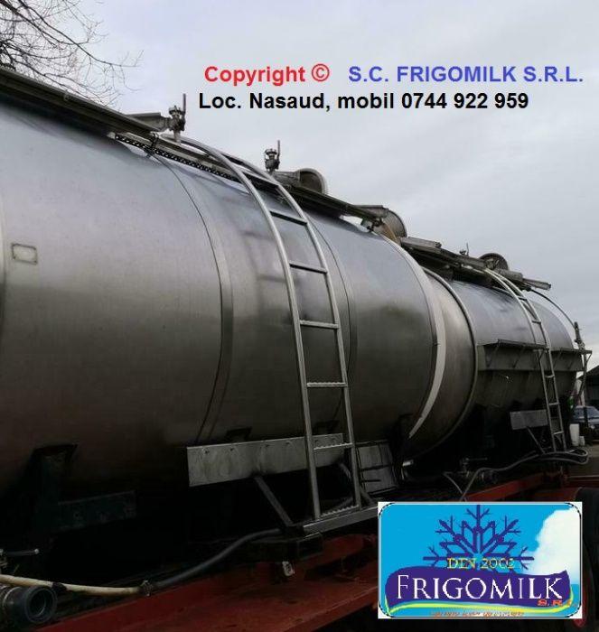 Cisterna transport 11000 l , bazin , rezervor inox , utilaje lapte