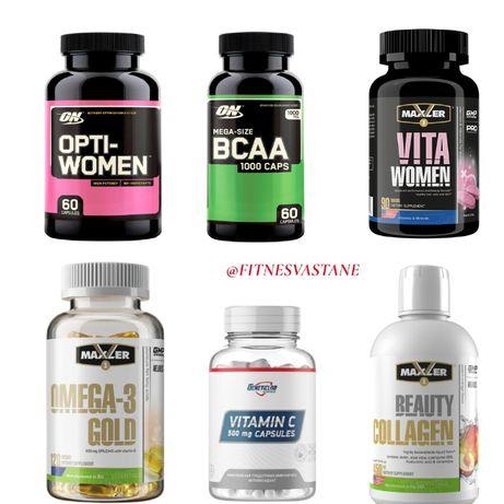 Омега 3 (рыбий жир), витамин Opti women, протеин, креатин, гейнер