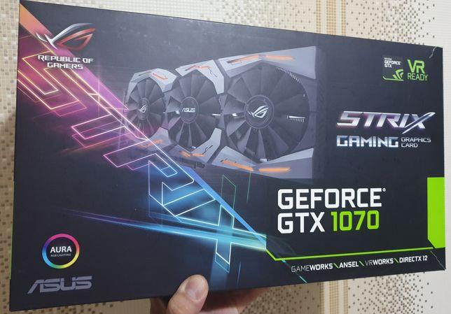 Видеокарта Asus Rog Strix Geforce gtx 1070 8gb. В шикарном состоянии.