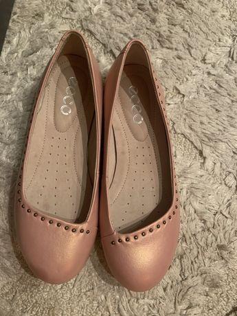 Balerini/pantofi piele ecco noi, nr 33, nu zara , mango