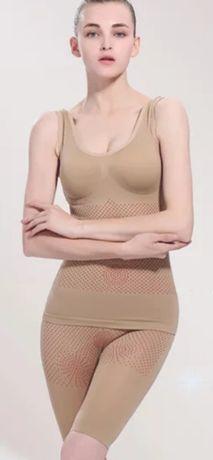 Белье для похудения с турмалином эффект 100% (майка, шорты, трусики)