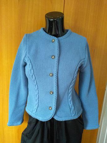 Cardigan Femei Vintage Tyrolean Astrifa in pure Virgin wool