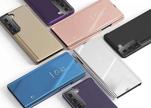 Огледален Смарт Калъф Тефтер за Samsung Galaxy S21+ / Ultra  / 360