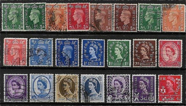 Set de timbre vechi britanice, monarhia in Anglia. Pret 35 lei toate