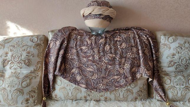 Шапка и платок женский