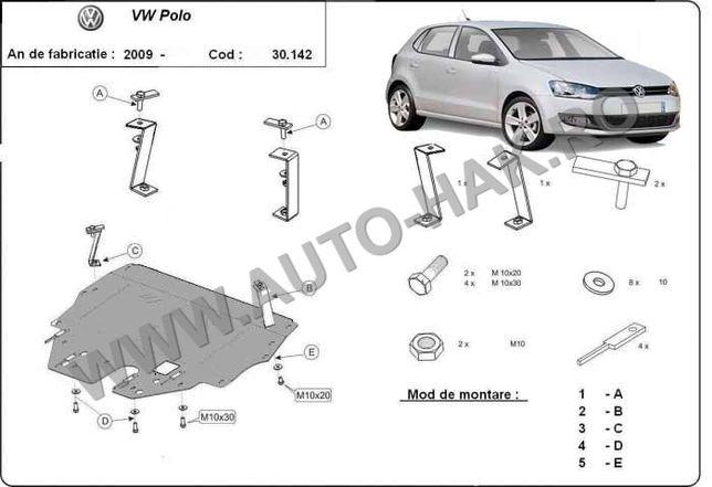 Scut motor metalic VW Polo - Benzina 2009-2017