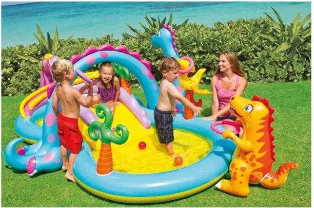 Надувной бассейн детский Intex Dinoland Play Center 57135 Новый