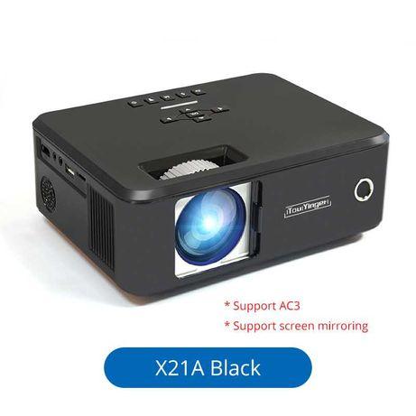 Проекторы новые X21A c WiFi подкл к телефону, 30000 ч/ люмен 3500