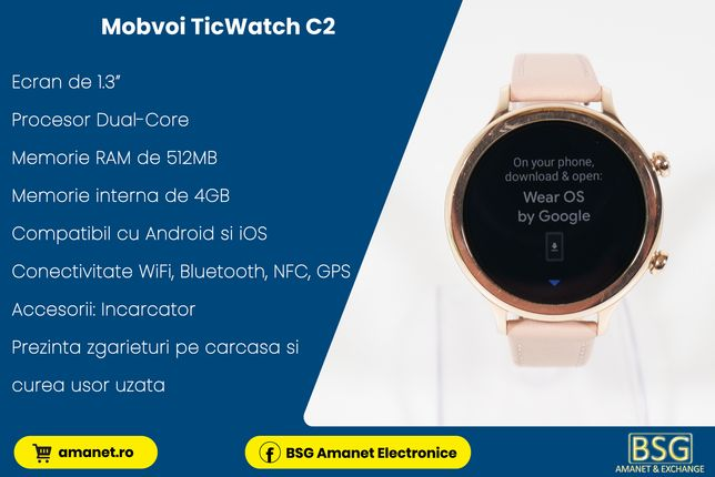 Smartwatch Mobvoi TicWatch C2 - BSG Amanet & Exchange
