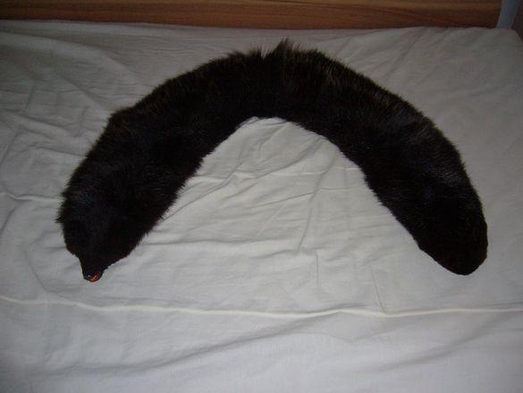 Яка от лисица/естесвен косъм