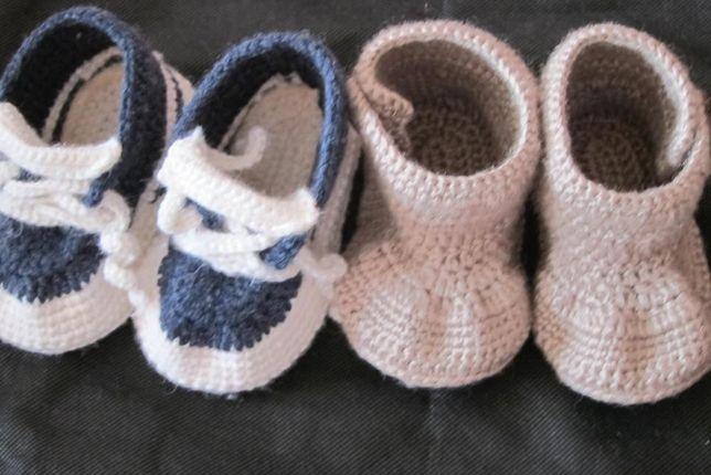 Красивые вязаные пинетки для малышей или теплые вязаные пинетки ботино