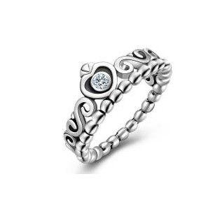 Inel argint tip PANDORA S925 cu montura zirconiu inimi Princess