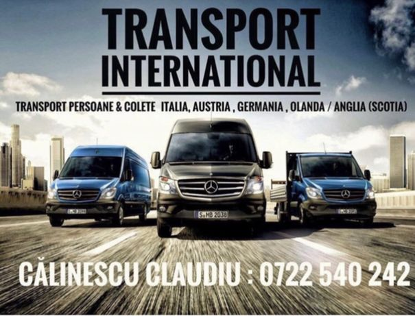 Transport persoane si colete Anglia, Italia, Germania, Belgia!