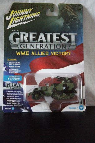 Johnny Lightning The Greatest Generation WWII M16 Half-track