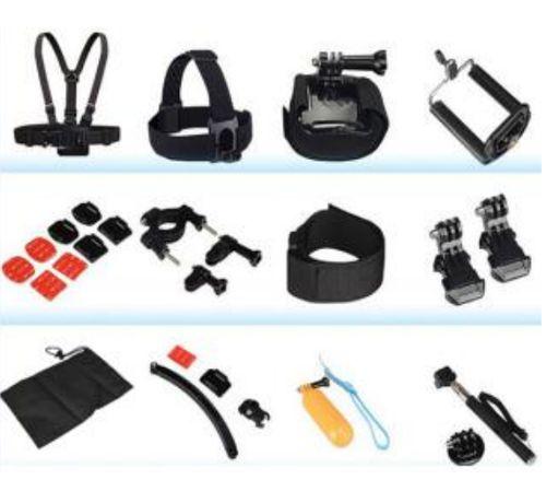 GK12 нов комплект аксесоари за екшън камери 12 части GO PRO SJCAM,EKEN