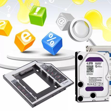 Adaptor Hardisc laptop, înlocuiește spațiul CD-rom cu încă un SSD
