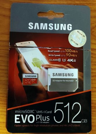 Card microSDXC Samsung Evo Plus 512GB