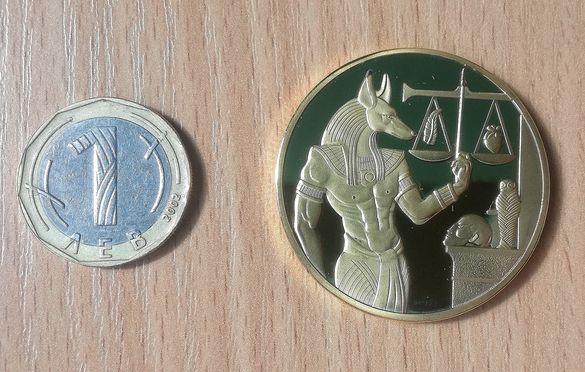 Монета сувенир Анубис