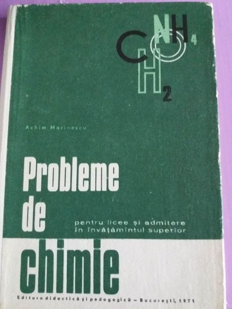 Probleme de chimie pentru licee si admitere in invatamantul superior