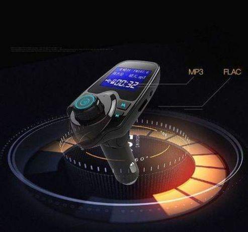 Трансмитер за кола с Волтметър USB Bluetooth Handsfree AUX Sd card