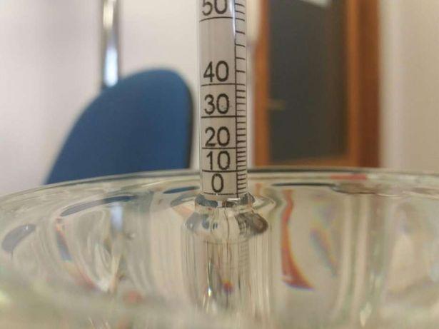 alcoolmetru din sticla 0-100 grade
