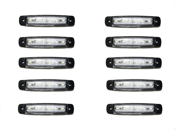 10 броя LED Габарити,светлини,токоси,рибки 12v 24v за камиони ремарке