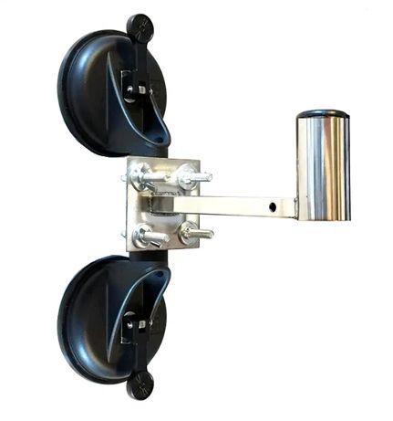 Ventuză dublă antenă camion aluminiu pentru geam, sau antena satelit