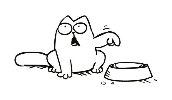 Стикер Hungry Cat