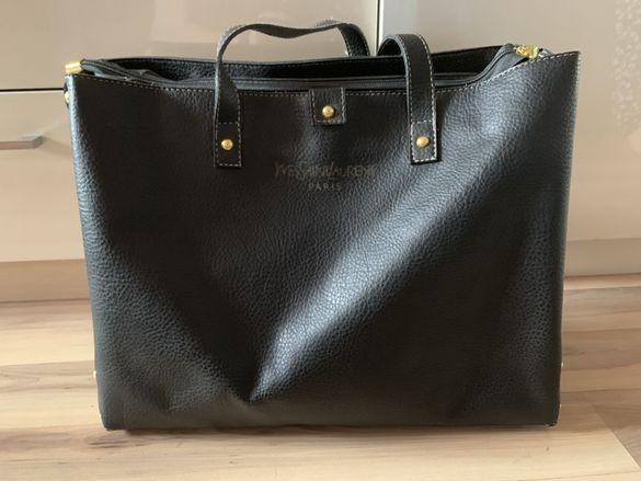 Черна чанта YvesSaintLaurent Paris