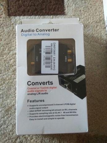 Adaptor convertor decodor audio digital optic TV în semnal analog