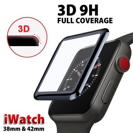 Apple Watch Seria 1 2 3 4 5 6 SE 38 40 42 44mm Folie Sticla Curbata