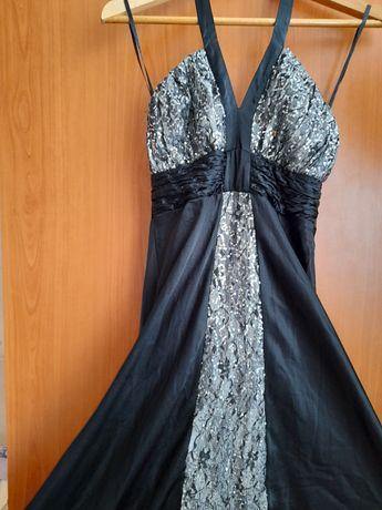 Официална рокля- сатен с паети