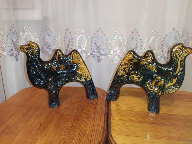 Два верблюда из фарфора.посуда в национальном колорите