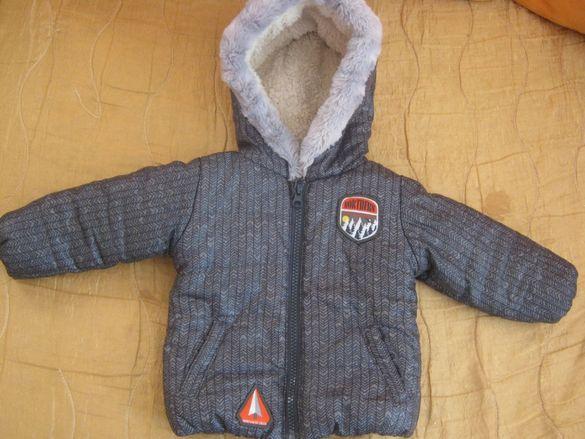 Плътно яке с подплата и качулка 68 размер