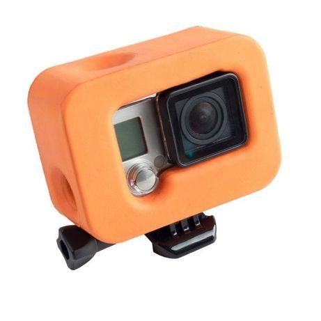 Непотъващо плаващо блокче за gopro hero 3+/4, оранжев   hdcam.bg