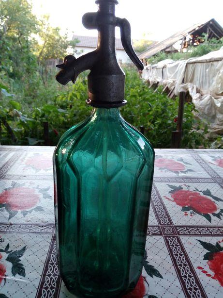 SIFONE de sticla,anii 60-70! IMPECABILE!