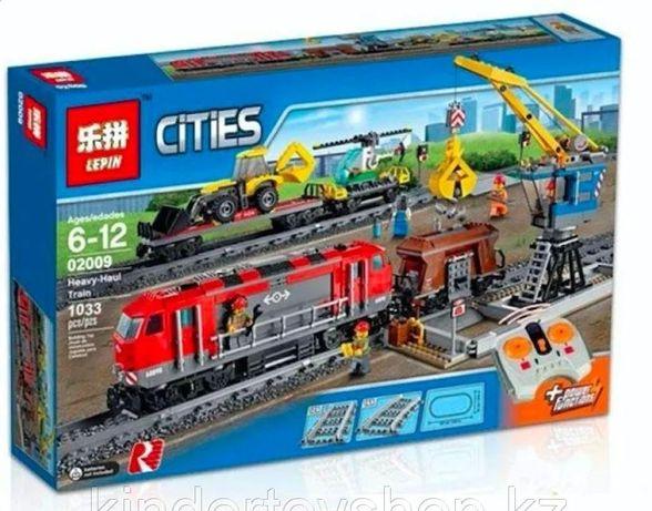Конструктор Аналог лего Lego 60098 LELE 28033 Грузовой поезд 1078 дет