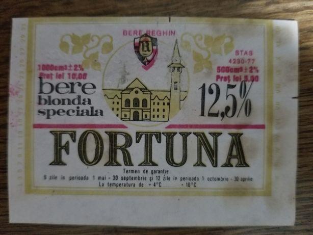 Eticheta de colectie bere FORTUNA, Reghin