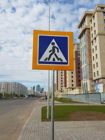 Дорожные знаки. Стойки СКМ. Сигнальные столбики в Калбатау