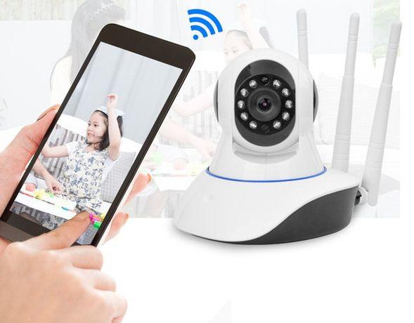 WiFi камера видеонаблюдение для помещения, легко устанавливается.