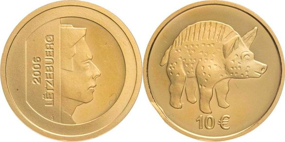 "Златна монета Люксембург 2006 ""Диво прасе"" 1/10 oz"