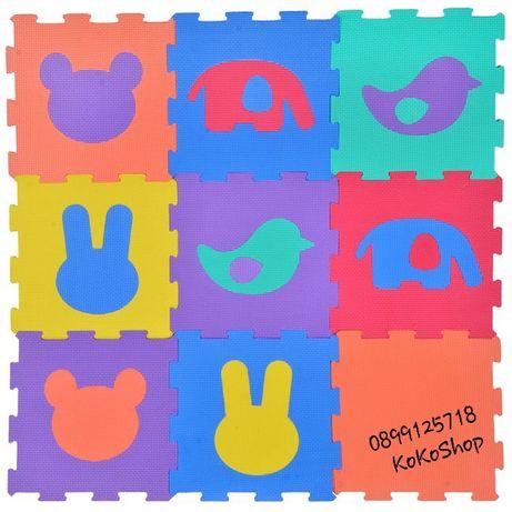 Детски мек пъзел/мек килим с цифри,животни, фигури