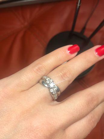 Inel de platina cu diamante 85 mil