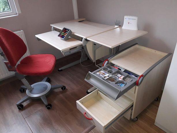Set birou ergonomic cu dulapior rollbox si scaun rotativ