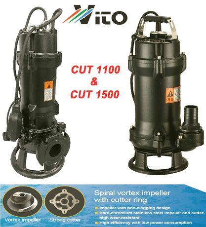 1500W Професионална помпа за изпомпване на силно замърсени води с нож