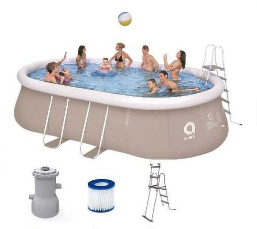 Надувной бассейн овальный