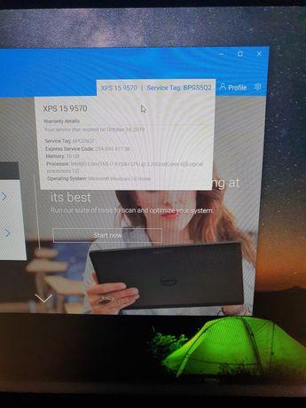 Laptop Dell xps 9570 i7 16gb ram  nVidia GeForce GTX 1050 Ti 4GB