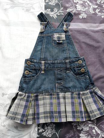 Детска дънкова рокля -сукман р-р 104