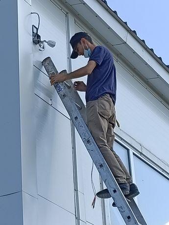 Монтаж, установка систем видеонаблюдения и пожарной безопасности
